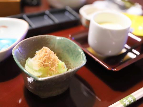 グランドプリンスホテル高輪「若竹」の天麩羅ランチ|前菜