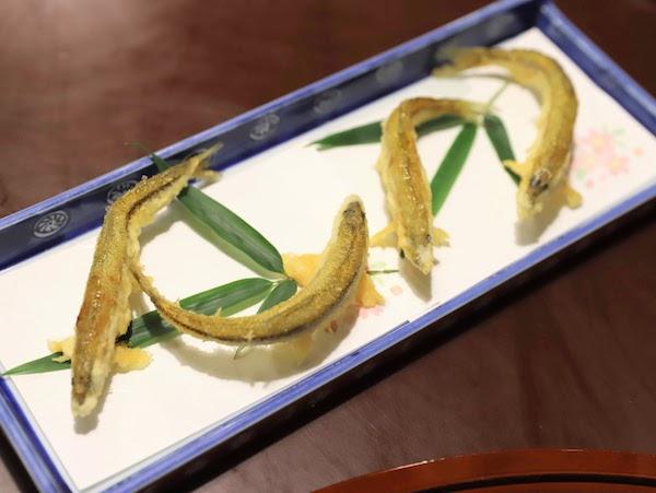グランドプリンスホテル高輪「若竹」の天麩羅ランチ|キビナゴ