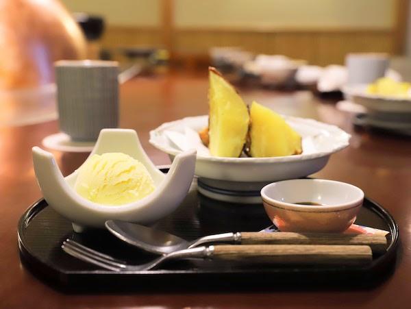 グランドプリンスホテル高輪「若竹」の天麩羅ランチ|サツマイモ天麩羅