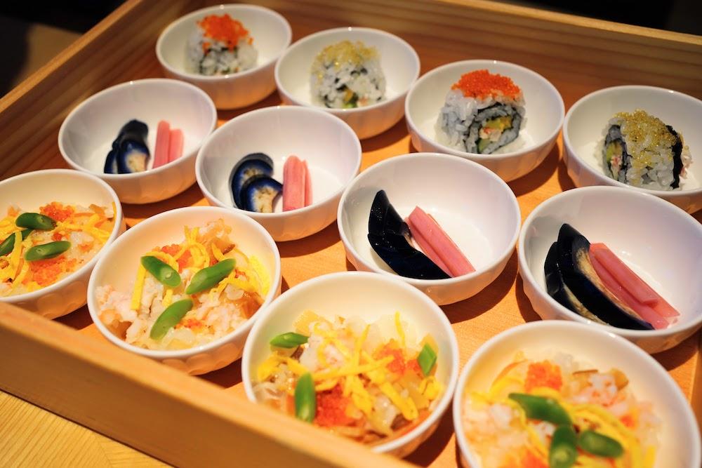 グランドプリンスホテル新高輪|ザクロのディナーブッフェ(お寿司)