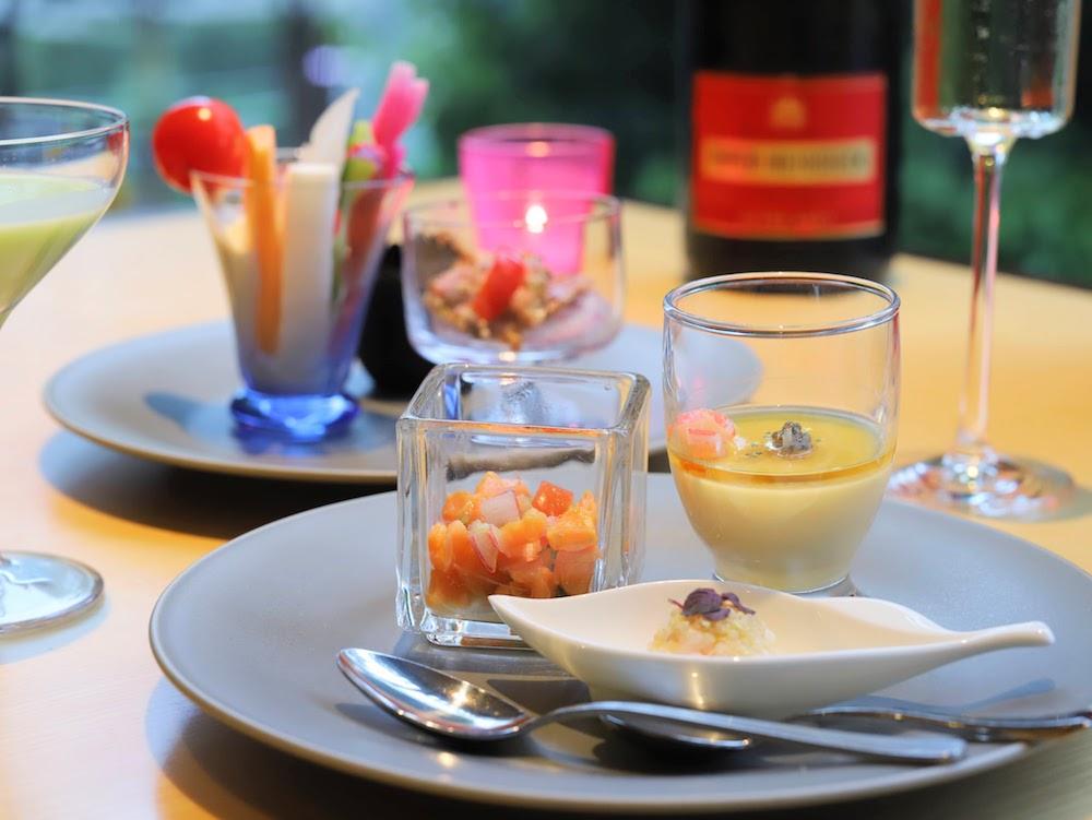 グランドプリンスホテル新高輪|ザクロのディナーブッフェ(前菜)