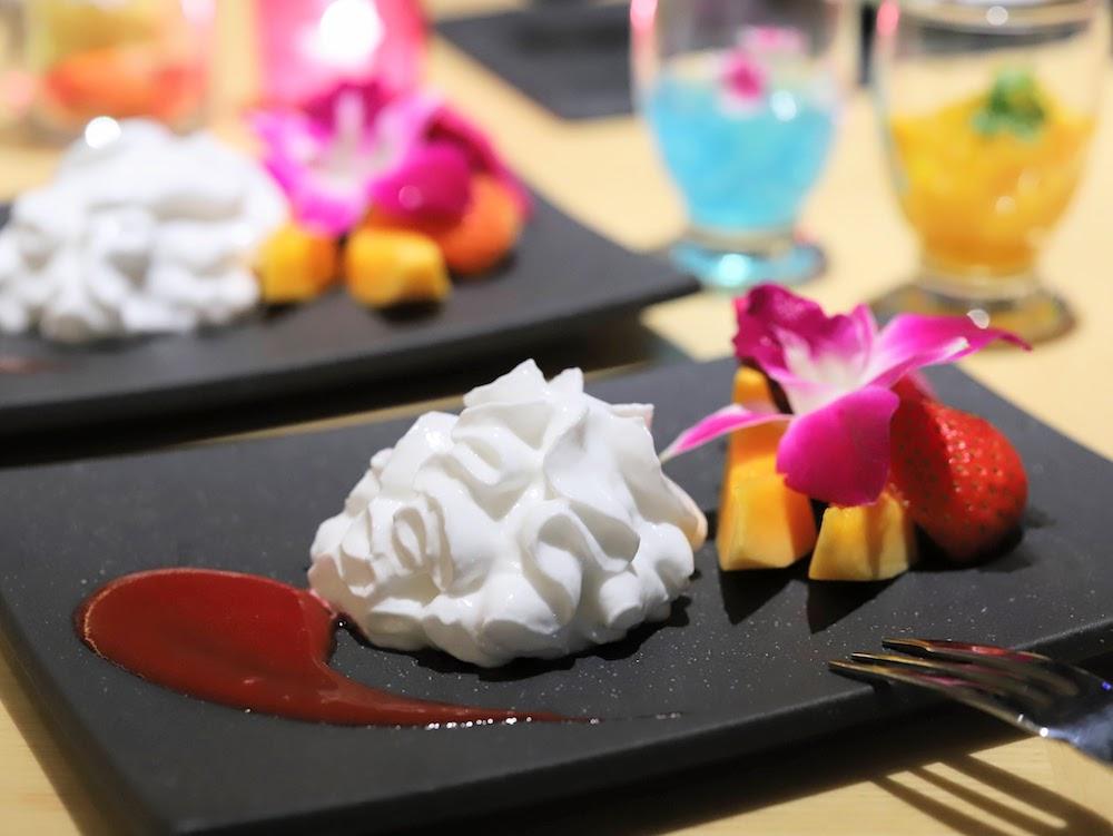 グランドプリンスホテル新高輪|ザクロのディナーブッフェ(エスプーマ)