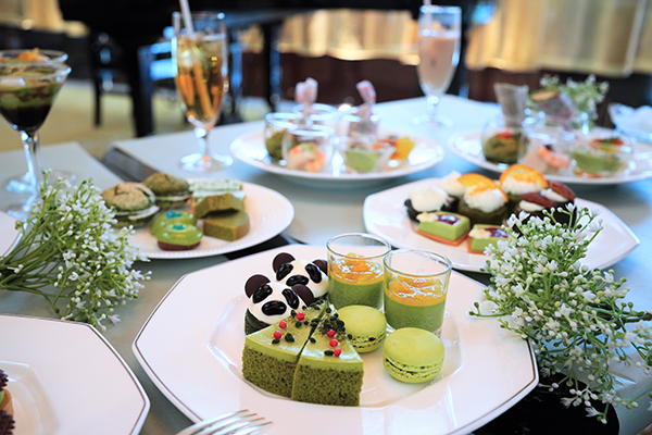 ANAインターコンチネンタルホテル東京の抹茶スイーツブッフェ|テーブル
