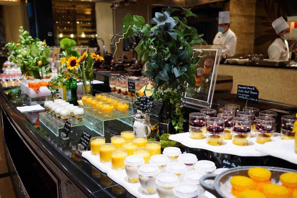 ウェスティンホテル東京のスイーツビュッフェ「シトラス2020」|ビュッフェ台