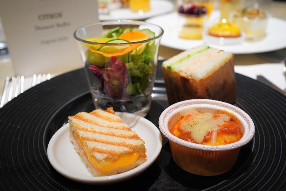 ウェスティンホテル東京のスイーツビュッフェ「シトラス2020」|軽食