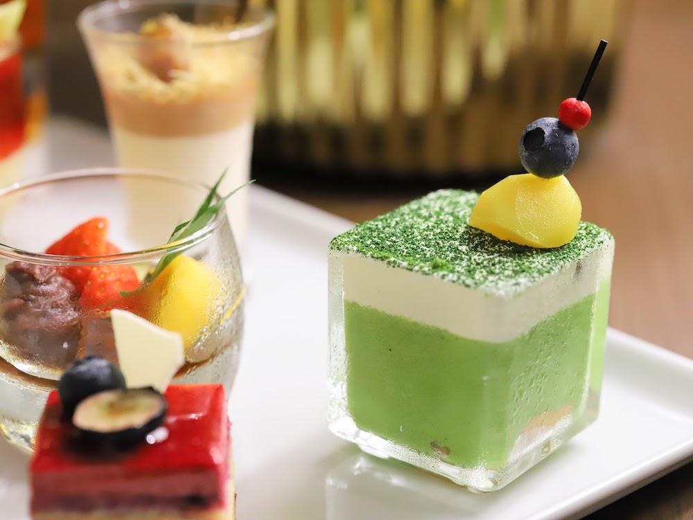 横浜ベイシェラトン「シーウインド」のナイトスイーツビュッフェ(抹茶)