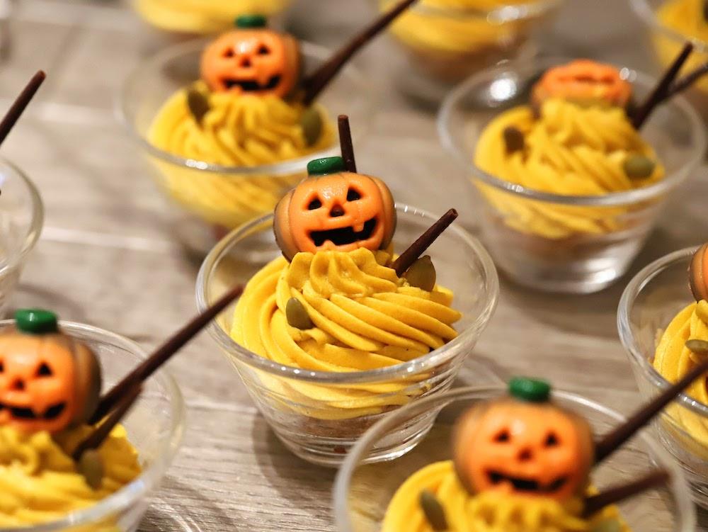 コンラッド東京セリーズのスイーツビュッフェ|かぼちゃのモンブラン