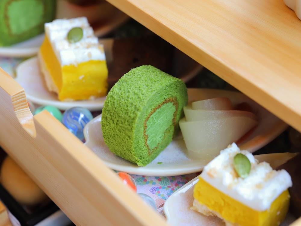 tcc GINZAの洋食のアフタヌーンティー|抹茶ロール