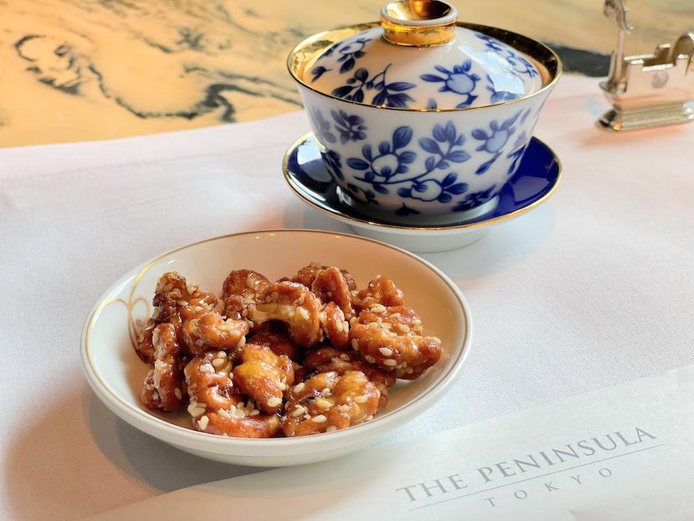 ザ・ペニンシュラ東京「ヘイフンテラス」ヘイフンテラス自家製XO醬と胡桃の飴炊き