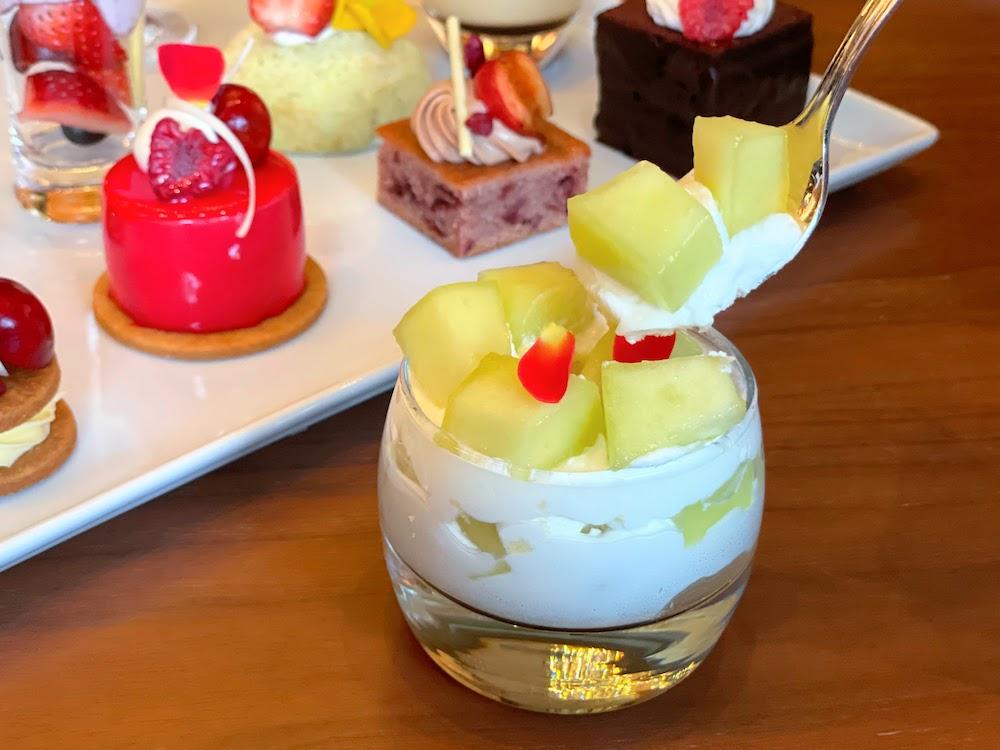 横浜ベイシェラトン「シーウインド」のナイトスイーツビュッフェ メロンショートケーキ