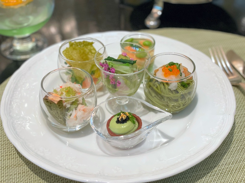 ANAインターコンチネンタルホテル東京の抹茶スイーツブッフェ|セイボリー盛り合わせ