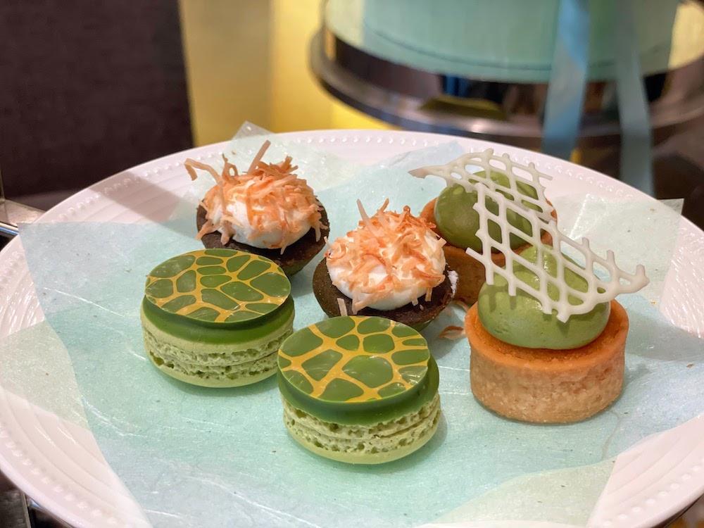 ANAインターコンチネンタルホテル東京の抹茶スイーツブッフェ|抹茶マカロン