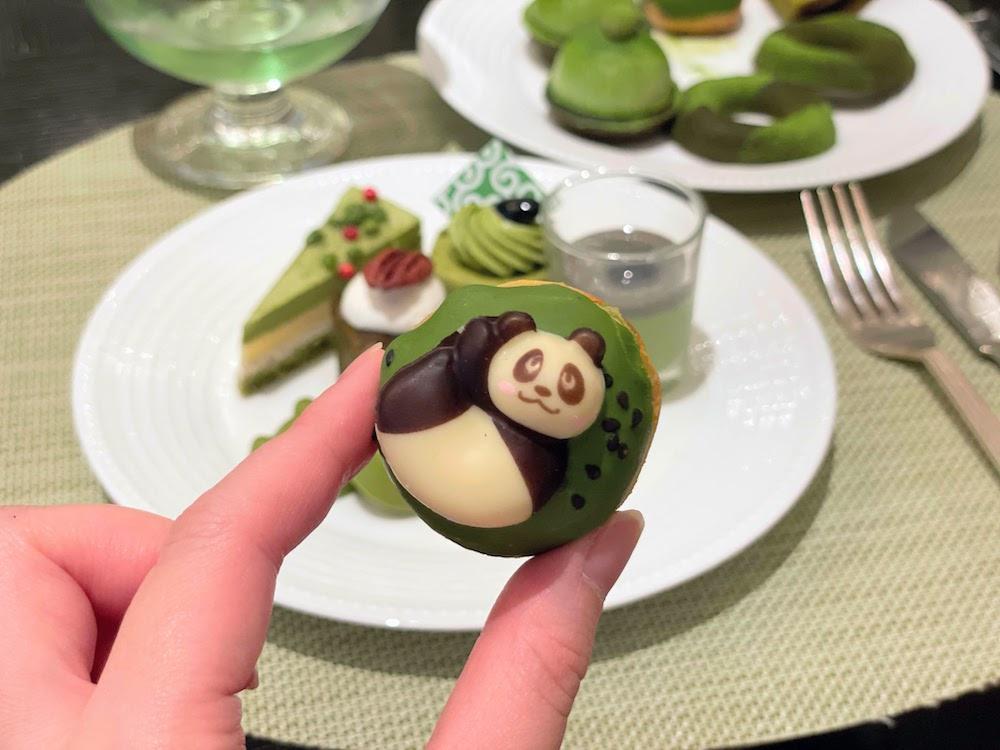ANAインターコンチネンタルホテル東京の抹茶スイーツブッフェ|パンダ